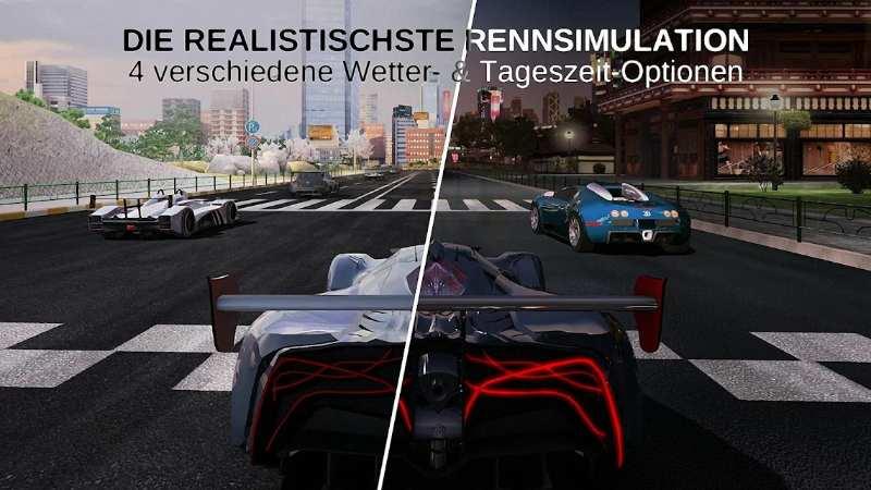 Kostenlose Spiele-Apps - das sind Bilder zum Spiel GT Racing 2