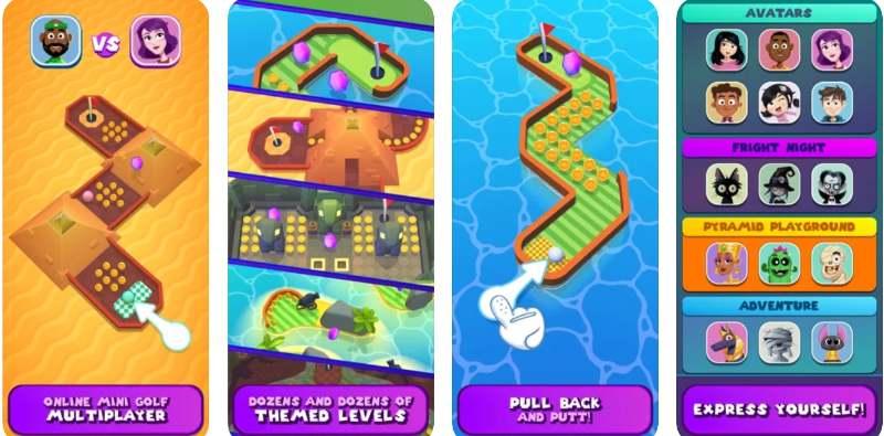 Mini Gof Worlds ist ein knallbunter Sportspiel-Spaß